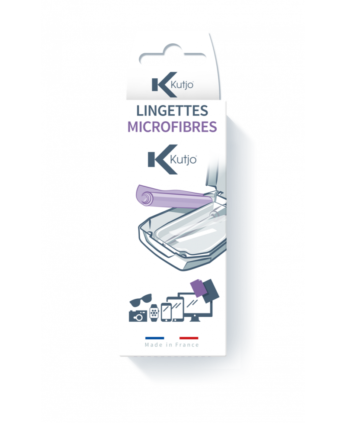 Pack 2 lingettes microfibres